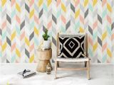 Wall Murals Gold Coast Pastel Chevron Wallpaper Colorful 2019 Wall Decoration