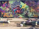Wall Murals Graffiti Style Graffiti at the Nomadic Munity Garden Made In the