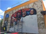 Wall Murals In Austin Tx Mural In Progress Picture Of Flores Mexican Restaurant