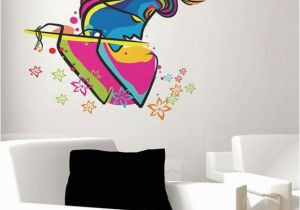 Wall Murals India Online Stickerskart Wall Stickers Wall Decals Abstract Art Krishna 6452