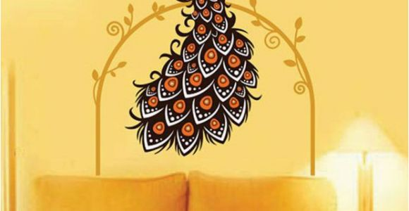 Wall Murals India Online Stickerskart Wall Stickers Wall Decals Beautiful Peacock On Vine