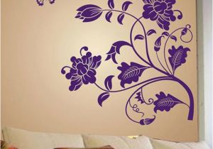 Wall Murals India Online Stickerskart Wall Stickers Wall Decals Purple Vine Flower 5710