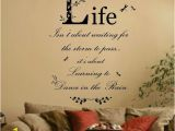 Wall Murals Inspirational Words Dance In the Rain Quote Vinyl Wall Art Sticker Mural Decal