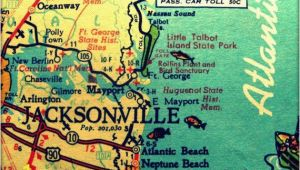 Wall Murals Jacksonville Fl Jax Map 60s