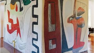 Wall Murals Long island A True original Le Corbusier Painted This Mural In
