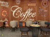 Wall Murals Made to Measure Beibehang Custom Wallpaper Murals Wood Shading Retro Coffee Label