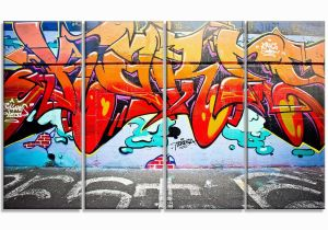 Wall Murals Melbourne Melbourne Street Art Abstract Graffiti 4 Piece Graphic Print On