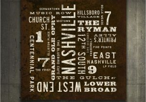 Wall Murals Nashville Tn Nashville Art Rustic Wall Art Nashville Poster City Art