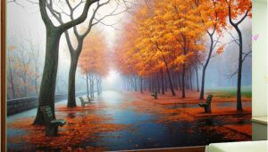 Wall Murals Nature Scenes Customized Wallpaper 3d Autumn Maple Leaf Natural Scene Wall
