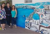 Wall Murals New Zealand Huge Mural Of Santorini Brings A Taste Of Greece to New