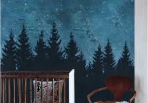 Wall Murals Night Sky forest Trees Night Scene Mural Wallpaper 4 Sheet Pack 2ft X 9ft