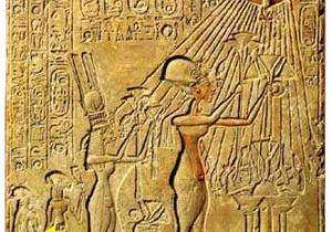 Wall Murals Of Amenhotep and Nefertiti Akhenaten and Moses Biblical Archaeology society