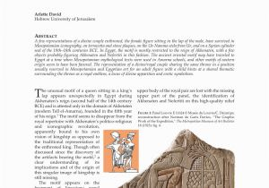 Wall Murals Of Amenhotep and Nefertiti Pdf David A 2017 A Throne for Two Image Of the Divine