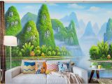Wall Murals Of Nature Wdbh 3d Room Wallpaper Custom Hand Painted Giant Hd Painting Guilin Landscape Home Decor 3d Wall Murals Wallpaper for Walls 3 D Natural
