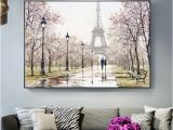 Wall Murals Of Paris Romantic Paris tower Wall Art Canvas Paintings the Wall Lover In
