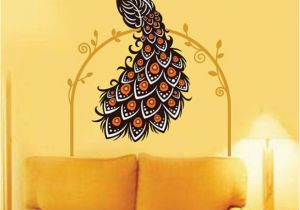 Wall Murals Online India Stickerskart Wall Stickers Wall Decals Beautiful Peacock On Vine