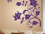Wall Murals Online India Stickerskart Wall Stickers Wall Decals Purple Vine Flower 5710
