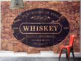 Wall Murals orange County King & Co Whiskey Wall Mural From Wallpaper Republic Size Small