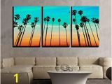 Wall Murals Palm Trees Wall26 3 Piece Canvas Wall Art California Sunset Palm Tree Rows In Santa Barbara Us Modern Home Decor Stretched and Framed Ready to Hang