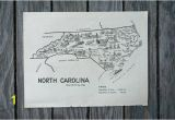 Wall Murals Raleigh Nc north Carolina Map Travel Map Decor Raleigh Nc Vintage