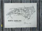 Wall Murals Raleigh Nc north Carolina Map Travel Map Decor Raleigh Nc Vintage