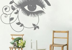 Wall Murals Removable Vinyl Abstract Girl Eyes Eyelashes Wall Decals Beauty Salon Vinyl Stickers Bedroom Decor Home Art Murals Removable Wallpaper Hot Wall Stickers Bedroom Wall