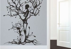 Wall Murals Removable Vinyl Details About Halloween Skeleton Wall Decal Removable Vinyl