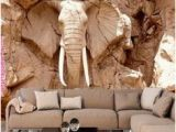 Wall Murals south Africa Custom 3d Elephant Wall Mural Personalized Giant Wallpaper