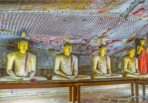 Wall Murals Sri Lanka Dambulla Sri Lanka November 27 2016 the Stone Statues Of