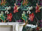 Wall Murals Stick On Amazon Jungle Removable Wallpaper Flowers Wall Mural Leaf Wall