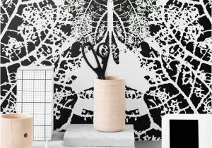 Wall Murals Stick On Monochrome Removable Wallpaper Leaf Self Adhesive Wallpaper
