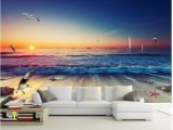 Wall Murals Surfing 3d Wallpaper Beautiful Surf Beach Gorgeous Living Room sofa Backdrop