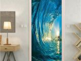 Wall Murals Surfing Gate 3d Stickers Diy Mural Bedroom Home Decor Poster Pvc 3d Surf