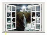 Wall Murals that Look Like Windows Amazon Scocici Removable 3d Windows Frame Wall Mural Stickers