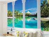 Wall Murals that Look Like Windows Wall Mural Photo Wallpaper 2357p Beach Tropical Paradise Arches