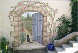 Wall Murals Tuscan Scenes Secret Garden Mural Painted Fences Pinterest