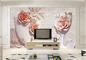 Wall Murals Wallpaper Cheap Wdbh Custom 3d Wallpaper Modern Flower Relief Brick Wall Tv Background Living Room Home Decor 3d Wall Murals Wallpaper for Walls 3 D butterfly