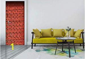 Wall Murals Wallpaper Murals Amazon Msszff 3d Traditional Red Door Mural Wallpaper