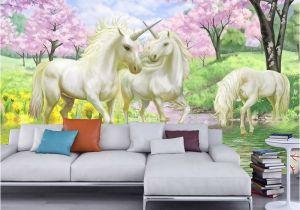 Wall Murals Wallpaper Murals Rainbow Unicorn Wall Mural Wall Murals You Ll Love Digital