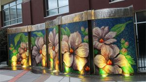 Wall Murals Wichita Ks Block E Pocket Park Water Wall Wichita Kansas