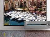 Wall Murals Window Scene Apartment Window View Wall Mural Of Monaco Harbour Monte Carlo