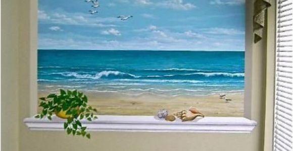 Wall Murals Window Scene This Ocean Scene is Wonderful for A Small Room or Windowless Room