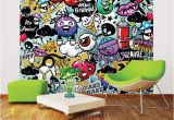 Wall Murals with Lights Mural Graffiti Monster Wall In 2019