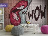 Wall Pops Murals and Decals Removable Wallpaper Pop Art Pop Art Wall Mural Self