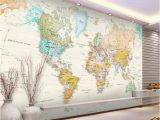 Wall Size World Map Mural Custom Any Size Mural Wallpaper 3d Stereo World Map Fresco Living Room Fice Study Interior Decor Wallpaper Papel De Parede 3d Hd Wallpapers