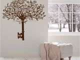 Wall Stickers and Murals New Design Vinyl Wall Decal Abstract Tree Key Home Decor