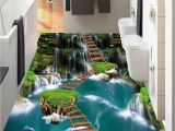 Wallpaper and Wall Murals [self Adhesive] 3d Bridge Over the Pool 1924 Floor Wallpaper Mural Wall Print Decal Wall Murals