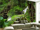 Wallpaper Mural Company Custom Wallpaper Murals 3d Hd Nature Green forest Trees Rocks