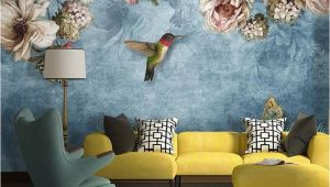 Wallpaper Mural Wall Art European Style Bold Blossoms Birds Wallpaper Mural