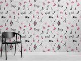 "Wallpaper Mural Wall Art Tapeten Wandbild ""fashion Illustration"""